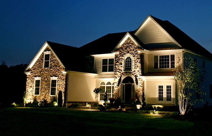 6 enchanting landscape lighting solutions step 1 dezigns blog installing ood lights around your home will illuminate areas of your property that would otherwise be in darkness after sunset theyre excellent security mozeypictures Gallery